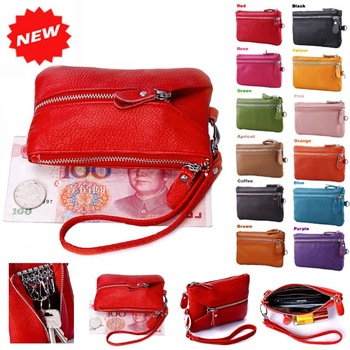 Hot multifunctional wristlet clutch mobile phone evening bags key holder GENUINE LEATHER+PU LEATHER Purse handbag,YB-DM158
