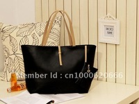 Free Shipping 1X Fashion Women Lady Nude Shoulderbag Handbag  BLACK&White