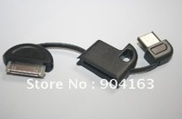 mini keybutton usb cable,  Mini Dock Connector toUSBCablefor iPhone / ipod, mini data and chargercable 1000pcs/lot