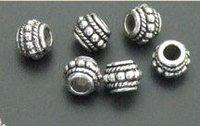 70 pcs Tibetan Silver Rope Beaded Spacer Beads 0179