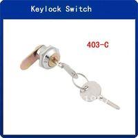 5pcs  17mm Dia Thread Cabinet Drawer Tool Box Mailbox Cylinder Cam Lock + 2 Keys