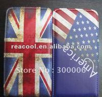 10pcs/lot Antique US&UK FlAG FLIP LEATHER HARD TOUGH CASE FOR SAMSUNG GALAXY SII S2 i9100