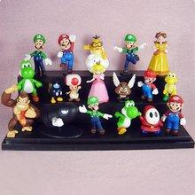 New Set Super Mario Bowser Princess Yoshi Luigi Toad Goomba Figure Toy(China (Mainland))