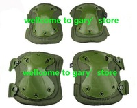 Transformers tactical knee and elbow protector pads set Green free shipping