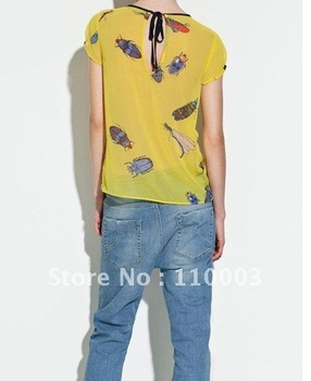 Printing on loose women shirt  B046