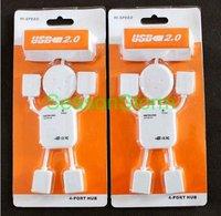 [EMS Free Shipping] Wholesale High-speed USB Hub 4 port 2.0 Robot USB Hub (SX-67E)