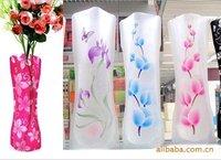 [EMS Free Shipping] Wholesale Fashion Foldable Plastic Vase / PVC Prints Flower Vase (SX-155E)
