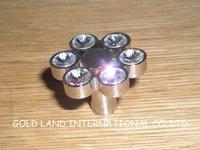 D32xH22mm Free shipping crystal glass zinc alloy chrome cabinet knob