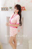 Женские ночные сорочки и Рубашки New Hot Sexy Lingerie Dress+G-STRING Super Sexy Sleepwear, Underwear, Uniform, Kimono Costume
