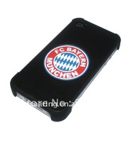 Ball Genuine leather cover back skin for apple iphone 4G 4S