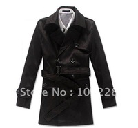 Autumn and winter outer clothing Men's Slim -type Trench Coats --9