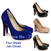 Free shipping2012New styles Fashion pumps, Lady's sexy High Quality high heels,Women's Casual High Heels,The bow shoes