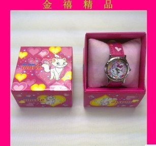 Special offer cartoon watch, children watch, anime watch box, riches and honour the cat electronic(China (Mainland))