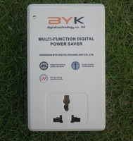 Free shipping multi-function  electricity  digital power saver box 30%-50% BYK white for family use