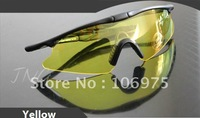 NIGHT / DAY VISION YELLOW LENS OUTDOOR CYCLING SHOOTING GOGGLES SAFETY GLASSES NEW