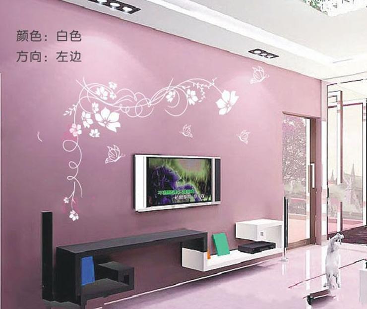 purple flower wallpaper for living room