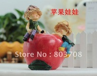Wholesale resin money boxes,Christmas gift and home decoration,Valentine's day gift,resin apple doll money boxes,free shipping