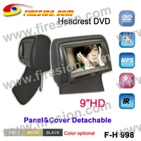 DVD Headests 9 inch new model  FM Transmitter, Games, SD USB support