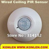 3pcs/lot wired Ceiling PIR sensor, 360 degree detection, free shipping