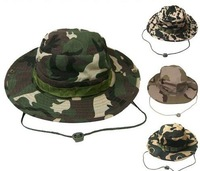Fashion Camouflage Military Hat  With Wide Brim Boonie Sun Fishing  Bucket Camping Hunting Hat  free shipping