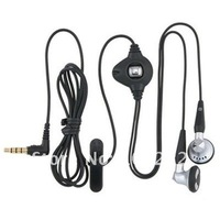 2.5mm Headset Earphone with Microphone Mic for Blackberry 8100 8700 8800 8820 7130,  500pcs/lot, Free Shipping