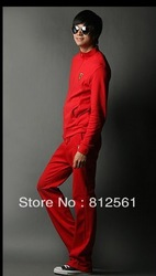 2012 The fall of new free shipping fashion New fashion sweatersports leisure men's clothing discount(China (Mainland))