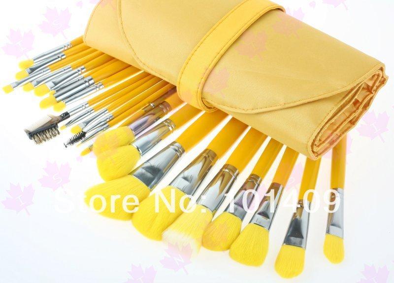 Yellow Makeup Brush Set