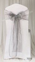 Free Shipping Organza Sash for chair decoration China factory Wholesale Price