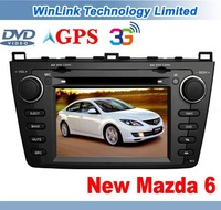 New Mazda 6 GPS Navigation Stereo Car DVD Player Radio Bluetooth Dual-zone Canbus Support 3G Wireless Internet