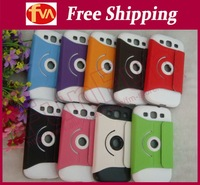 Free shipping cost multi-colors 360 roll design leather case for samsung galaxy i9300 30pcs/lot