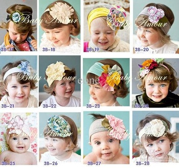 new baby headbands infant flower headband children hair accessories girl crochet hair band