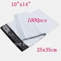 "1000pcs 10""x14""Self-Seal Poly Mailer Plastic Envelope Mailing Courier bag ,Free Shipping DHL /EMS"