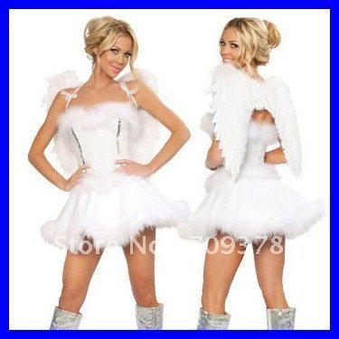Free shipping Cloud Nine Sexy Angel Costume Women dress 2012 Halloween costume wholesale 10pcs/lot Fancy dress costume 8536(China (Mainland))