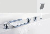 Free shipping bathroom chrome Waterfall bathtub faucet