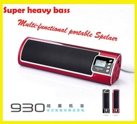 Free shipping NOGO N930 speaker with FM radio,2.0 full bass subwoofer,mini speaker,portable speakers support SD/MMC card