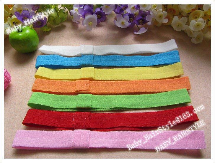 60pcs Sample 0.7inch Elastic Hair Headband Soft Kids Headwear Top Baby Hairband Crochet Hair Ribbon Girl's Hair Accessories(China (Mainland))
