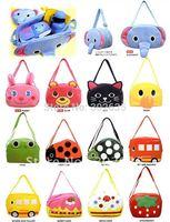 50PCS/lot Free shipping Children's shoulder bag, baby messenger bag, multi-style multi-colored animal shaped kids school bag