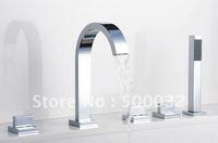 new design 5-peice set waterfall bathtub faucet