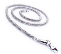 "2.4mm,3.2mm Stainless Steel Round Net Chain Necklace 22"",24"",26"",28"" length available or 50cm,60cm,65cm,70cm"