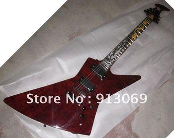 Customized orders sales promotion guitar Ken Lawrence Expl.er Metallica James Hetfield Electric Guitar neck side with LED Light