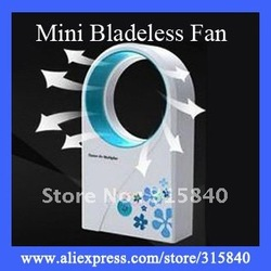 1pc ABS Mini Bladeless Fan Air Conditoner Hold USB Cooling Fans -- FAF08 Free Shipping(China (Mainland))