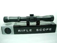Basic 4x20 Hunting Rifle Scope Sight w/ Free Mounts