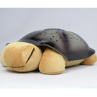 Romantic music turtle lamp starry sky projector lamps turtle snail turtle lamp star light sleep 805 free air mail