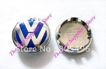 5pcs Top Quality VOLKSWAGEN VW 3D Super Chrome Badge Blue Wheel Center Cap GOLF JETTA PASSAT LUPO POLO 65MM