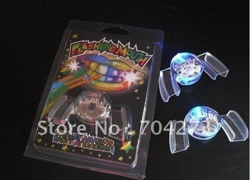 FREE SHIPPING LED mouth Flashing light mouth guard mouthpiece/Flashing mouth
