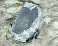 Tactical Metal Steel Wire Full Face Mesh Mask ACU