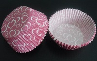 free shipping 2012 500pcs full love hearts with pink color cakecup baking paper cup muffin cases for party favor