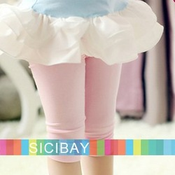 Little Girls Shorts Pink Skinny Slim Half Leggings, Free Shipping, 4pcs/lot K0205(China (Mainland))
