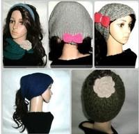 Three-in multifunctional magicaf muffler scarf fashion hat knitted headband hat muffler scarf bandanas