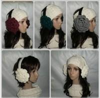 Autumn and winter handmade rose ultralarge flower earmuffs thermal earmuffs plush earmuffs